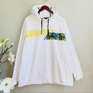 Nike white abstract prints hoodie